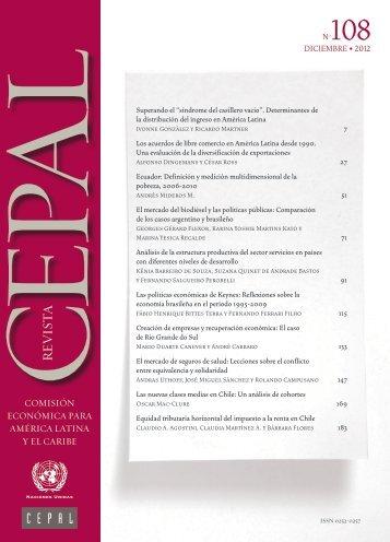 Revista CEPAL Nº108