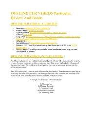Offline PLR Videos  review and (MEGA) bonuses – Offline PLR Videos