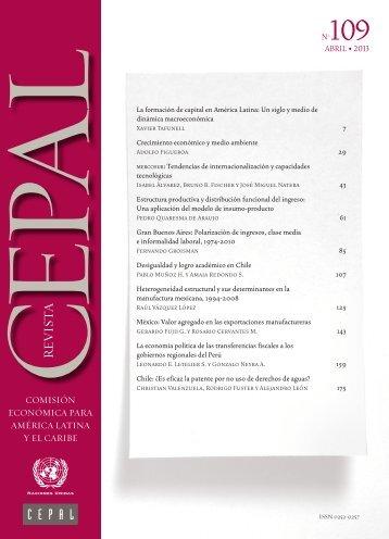 Revista CEPAL Nº109