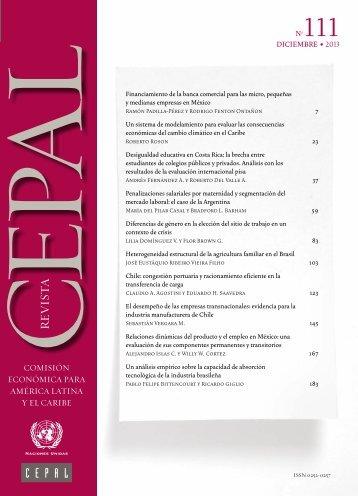 Revista CEPAL Nº111