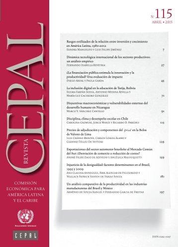 Revista CEPAL Nº115