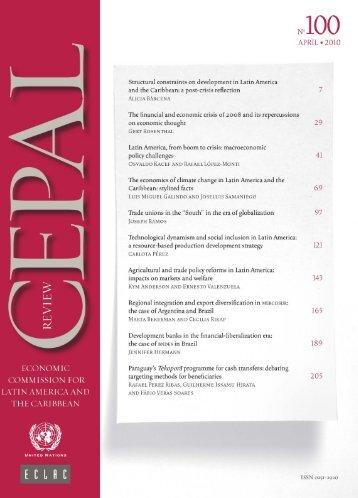 CEPAL Review Nº100