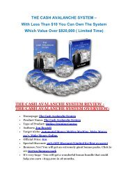 Cash Avalanche System  review-(MEGA) $23,500 bonus of Cash Avalanche System