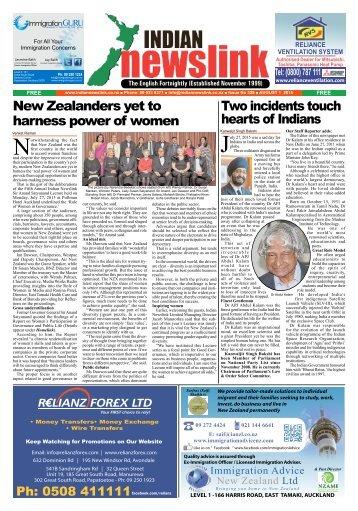 Indian Newslink August 1, 2015 Edition