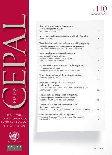 CEPAL Review Nº110