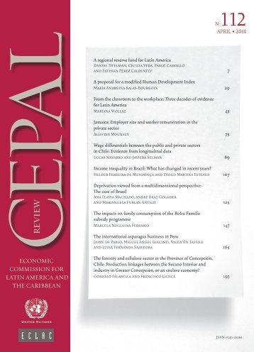 CEPAL Review Nº112