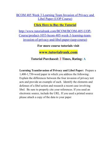 libel and invasion of privacy essay Libel and invasion of privacy essay 1188 words - 5 pages libel and invasion of  privacy libel and invasion of privacy are two very important issues dealing with.
