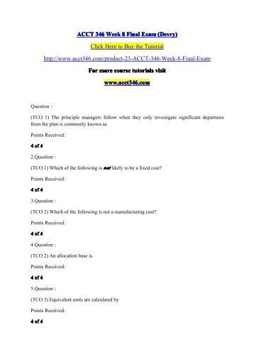 ACCT 346 Week 8 Final Exam / acct346dotcom