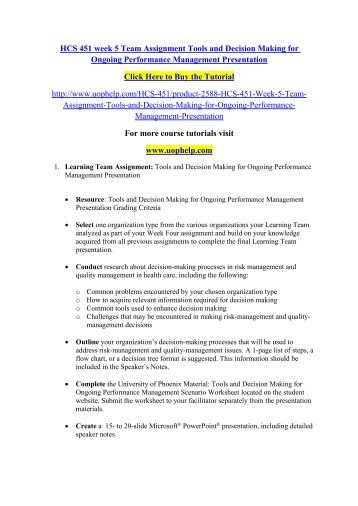 hcs 451 week one overview of risk management and quality management in health care worksheet