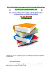 PSY 400 Week 1 Individual Assignment Social Psychology Definition Paper.pdf