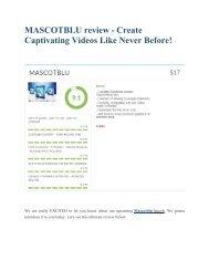 MASCOTBLU  review and giant bonus with +100 items