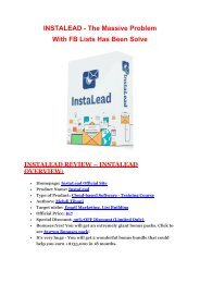InstaLead  review & bonus - I was Shocked!