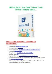 InstaLead  review and (COOL) $32400 bonuses