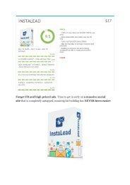 InstaLead  Review & (Secret) $22,300 bonus