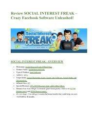 Social Insterest Freak  Review-MEGA $22,400 Bonus & 65% DISCOUNT
