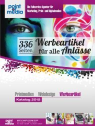 Werbeartikel-Katalog 2015 - point of media Verlag