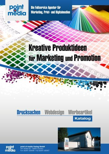 Printmedien Katalog - point of media Verlag