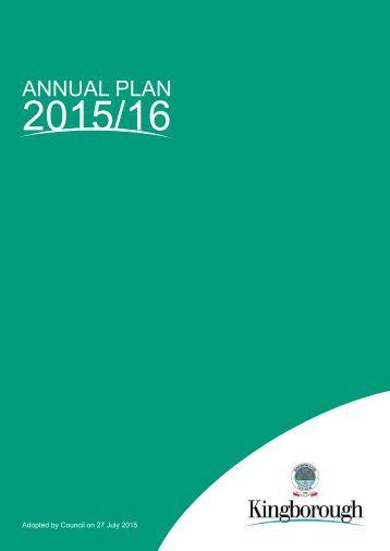 Kingborough Council Annual Plan 2015/16