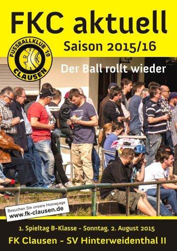 FKC Aktuell - 01. Spieltag - Saison 2015/2016