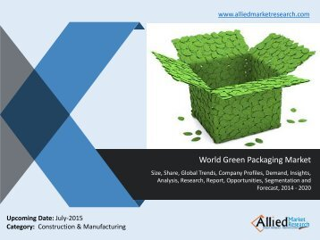 World Green Packaging Market Size, Share, Trends, Analysis, Demand, Opportunities, Forecasts 2014 -2020.pdf