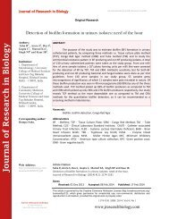 Detection of biofilm formation in urinary isolates: need of the hour