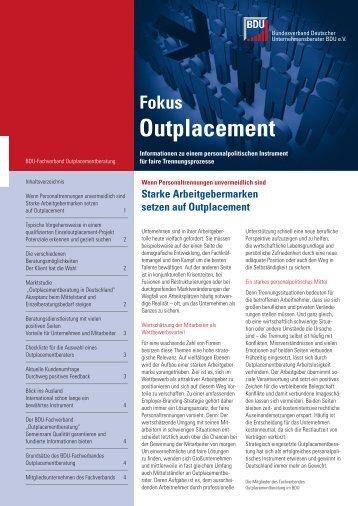 Starke Arbeitgebermarken setzen auf Outplacement