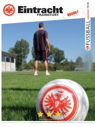 Eintracht Frankfurt Spielzeit 15/16 August