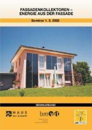 seminar fassadenkollektoren – energie aus der fassade