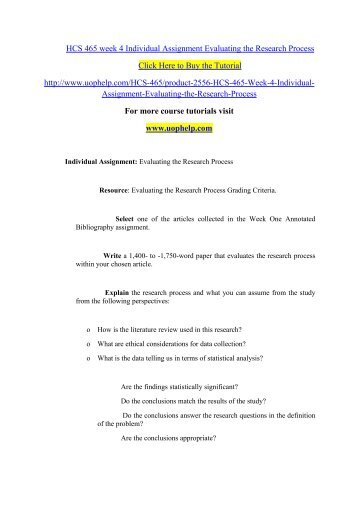 hcs 465 annotated bibliography