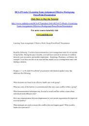 HCS 475 week 3 Learning Team Assignment Effective Workgroup PowerPoint Presentation/uophelp