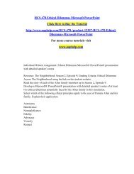 HCS 478 Ethical Dilemmas Microsoft PowerPoint/uophelp
