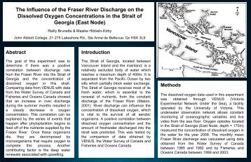 The Influence of the Fraser River Discharge on the Dissolved ...