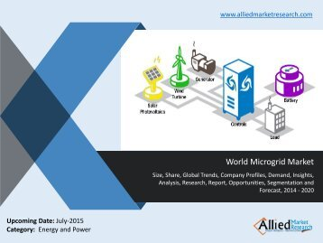World Microgrid Market Size, Trends, Growth, Analysis, Demand, Opportunities and Forecasts 2014 -2020