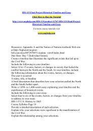 HIS 115 Final Project Historical Timeline and Essay/uophelp