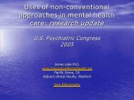 Evidence-based uses of non-conventional treatments in mental ...