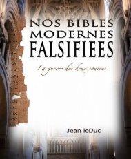 Nos bibles modernes falsifiées
