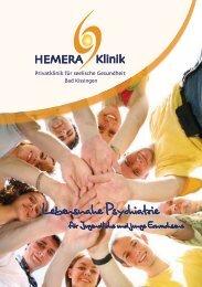 HEMERA Prospekt - Lebensnahe Psychiatrie für Jugendliche und junge Erwachsene
