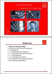 Baurecht für Ingenieure Teil 1 - Universität Siegen