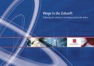 Broschüre zum Stiftertag 2009 - Johannes Gutenberg-Universität ...