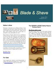 BLADE and SHAVE January 2015 by Bob Hall