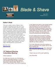 BLADE and SHAVE June 2015 by Bob Hall