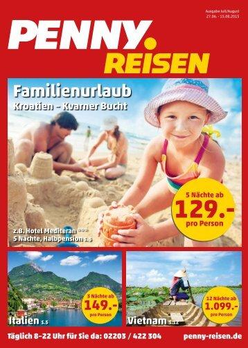 Penny Reisen Prospekt Juli / August 2015