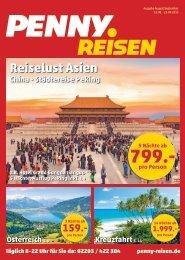 Penny Reisen Prospekt August / September 2015