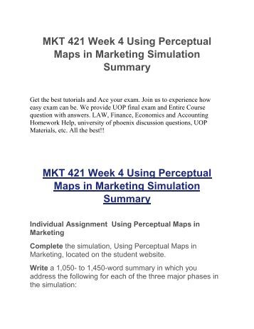 mkt 421 week 4 using perceptual maps in marketing simulation Watch my amazing website created on emaze - the stunning web site builder.