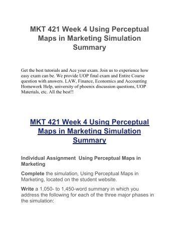 MKT 421 Week 3 Summary Assignment