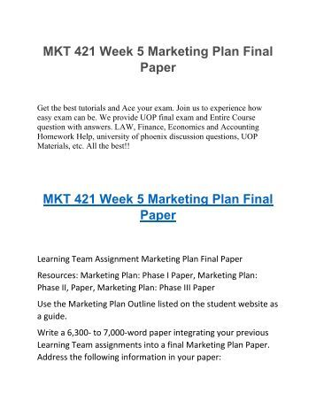 marketing plan phase ii paper Marketing plan/strategy for management department  at ii  2015-2016 marketing plan and strategy for the marketing degree option  executive  stage the marketing program is still in its growth phase.
