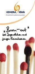 HEMERA Burnout Flyer - Burnout bei Jugendlichen und jungen Erwachsenen
