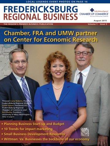 Fredericksburg Regional Business-August 2015
