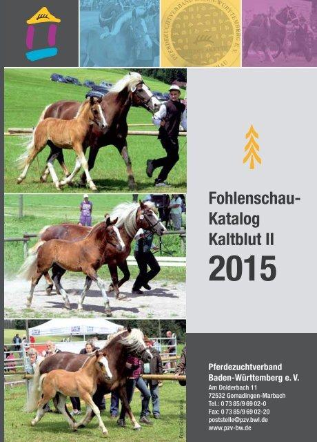 Fohlenschaukatalog Kaltblut II 2015