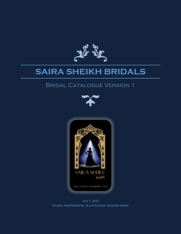 Saira Sheikh Bridal Catalogue Version 1